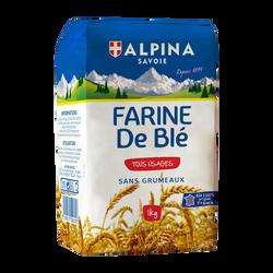 Farine de blé sans grumeaux ALPINA Savoie, 1kg