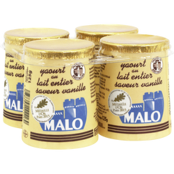 Empresure yaourt à la vanille MALO pot carton 4x125g