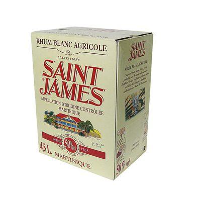 Rhum blanc agricole 50%vol. ST JAMES, CUBI 4,5l