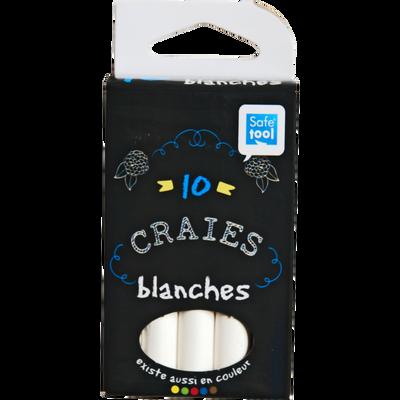 Craie SAFETOOL, blanche, 10 unités
