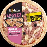 Sodeb'O La Pizza Jambon Emmental Sodebo, 470g