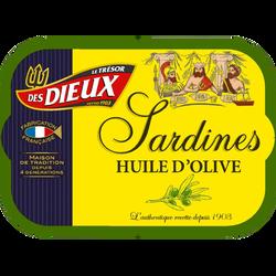 Sardines à l'huile d'olive LES DIEUX, 115g