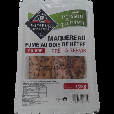 Filets de maquereau fumés au poivre PECHEUR D'ISLANDE, 150g