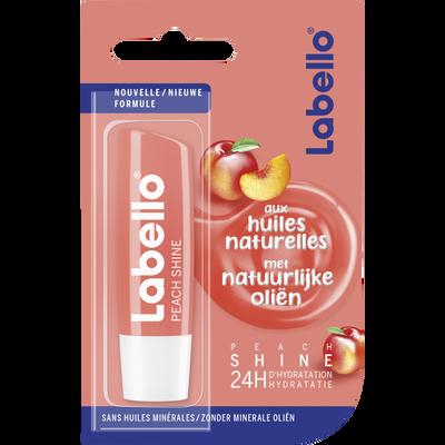 Stick pour les lèvres peach shine huiles naturelles LABELLO, 4,8g