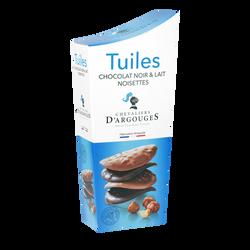 Tuiles lait et noir LES CHEVALIERS D'ARGOUGES, 130g