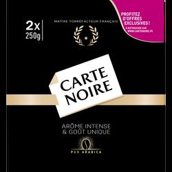Café moulu classique CARTE NOIRE, 2x250g