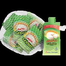 Mini fromage au lait pasteurisé MINI GERARD, 22% de MG, 5x25g