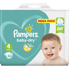 Pampers Couches Baby Dry Megapack T4 , X86