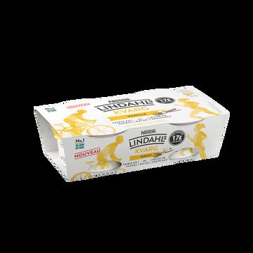 Nestlé Fromage Frais Maigre À L'arôme Naturel De Vanille Avec Édulcorant Nestle Lindahls 2x150g