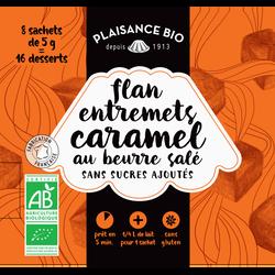 Préparation pour flan-entremets non sucré caramel beurre salé PLAISANCE BIO,  étui de 40g