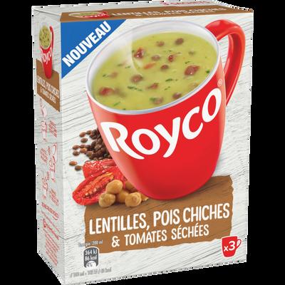 Soupe instantanée aux lentilles pois chiches ROYCO, 3x22, 3g