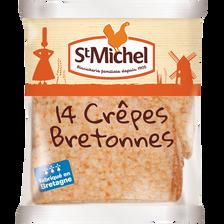Crêpes bretonnes SAINT MICHEL, 14 pièces, 367g