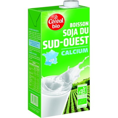 Boisson au soja au calcium Bio & Local CEREAL BIO, brique de 1 litre