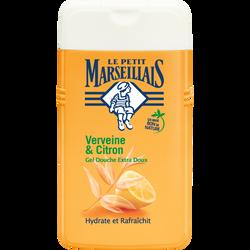 Gel douche extra doux parfum verveine et citron LE PETIT MARSEILLAIS,flacon de 250ml