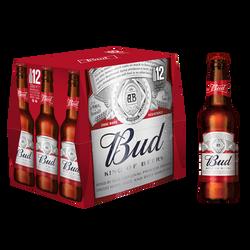 Bière blonde BUD 5° bouteille de 12x33cl