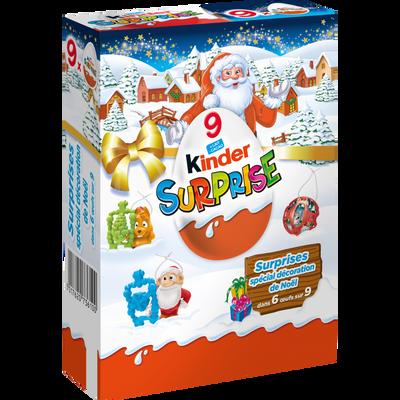 Oeufs Surprise en chocolat KINDER, paquet de 9, 180g