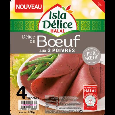 Délice de boeuf aux 3 poivres ISLA DELICE, 4 tranches, 120g