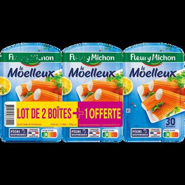 Fleury Michon Bâtonnet Surimi Moelleux Saveur Crabe Fleury Michon X2+1offert 1,500g