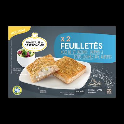 Feuilletés aux noix de Saint Jacques aux petits légumes aux agrumes FRANCAISE DE GASTRONOMIE, 200G