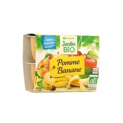 COMPOTE POMME BANANES 4x100g JARDIN BIO