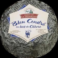 Bleu de chèvre cendré au lait thermisé FERME DE LA TREMBLAYE, 25,5% deMG, 150g