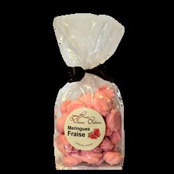 Meringues à la fraise LES DOUCEURS CHATTOISES, sachet 100g