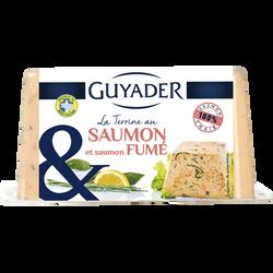 Terrine de saumon et saumon fumé GUYADER, 350g