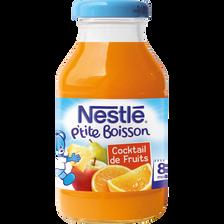 Cocktail de fruits sans sucre ajouté NESTLE, dès 8 mois, 20cl