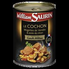 Cochon mogettes vendée & zestes citron, Gault & Millau WILLIAM SAURIN,400g