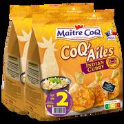 Maître Coq Coq'ailes Indian Curry, Maitre Coq, Lot 2x250g