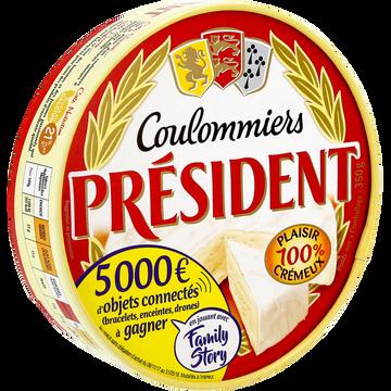 Président Coulommiers Au Lait Pasteurisé President, 21%mg, 350g