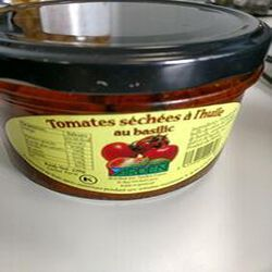 tomates sechees a l huile au basilic 220g casher