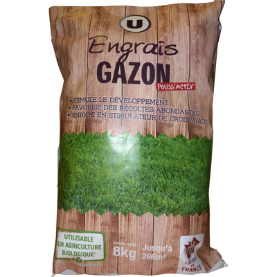 ENGRAIS GAZON U UTILISABLE EN AGRICULTURE BIO 8KG