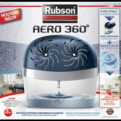 """Absorbeur """"Stop Humidité 2 en 1"""" RUBSON, pour surface de 40m², avec 2recharges Power Tabs 2 en 1"""