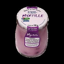 Yaourt entier brassé au lait du jour Myrtille LA FERME DU MANEGE, 180g