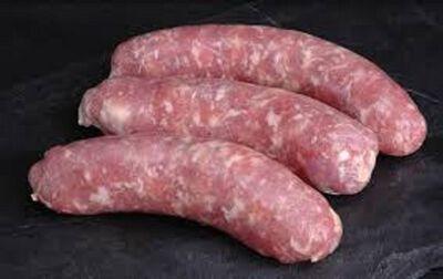 Grosse saucisse pur porc comosée de: