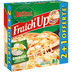 Pizza fraich'up 4 fromages gourmands BUITONI, x2 + 1 offerte