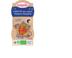 Bol Bonne nuit carotte, tomate et polenta BABYBIO dès 12 mois 2x200g