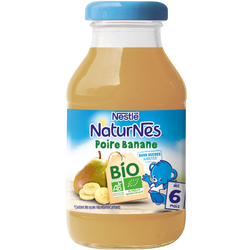 Jus poire banane bio NATURNES, 200ml