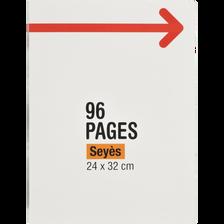 cahier agrafe BIEN VU, 24x32cm, 96 pages, 70g, seyes