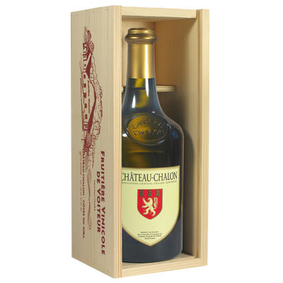 Château-Chalon FRUITIERE VINICOLE DE VOITEUR, coffret bois de 1 bouteille de 0.62l