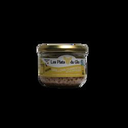 Grillon charentais au foie gras de canard LES PLATS DU GITE, bocal de 180g