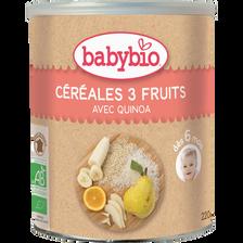 Céréales 3 fruits avec quinoa BABYBIO, 220g