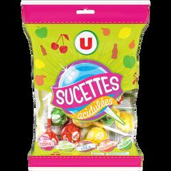 Sucettes boules goût fruits et cola U, 192g