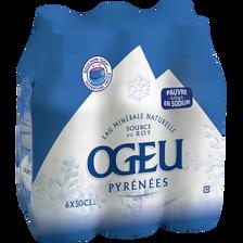 Eau minérale plate Ogeu pauvre en sodium, 6 bouteilles de 50cl