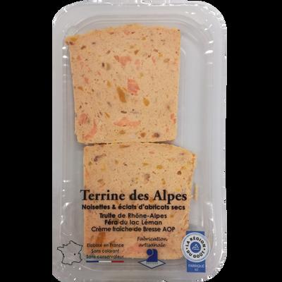 Terrine des Alpes (truite de Rhône-Alpes et féra du lac Léman), barquette 120g