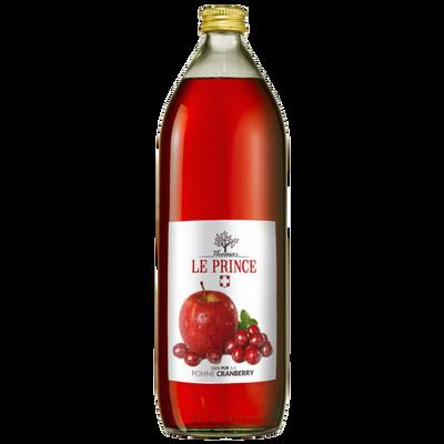 Pur jus de pomme et cranberry THOMAS LE PRINCE, 1 litre