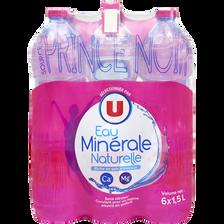 Eau minérale naturelle U, 6 bouteilles de 1,5l