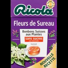 Bonbons fleurs de sureau sans sucres avec édulcorants RICOLA, boîte de50g