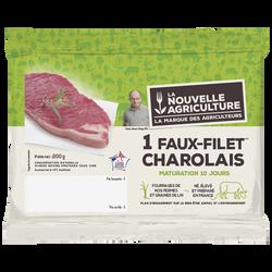 Faux filet de boeuf Charolais ***, Nouvelle Agriculture, France, 1 pièce, étui fraicheur, 200g